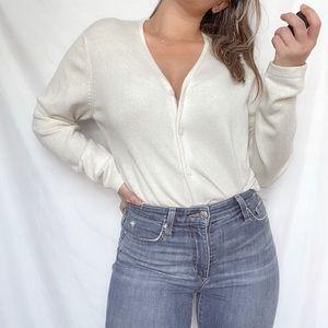 cream cashmere sweater